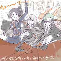 秘宝の里でウェイウェイするアニキ6号と源氏兄弟